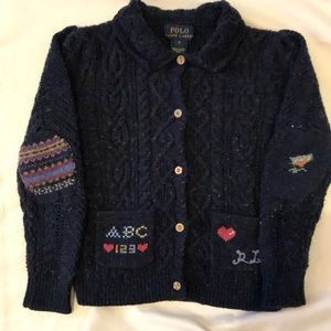 Precious Ralph Lauren girls sampler cardigan